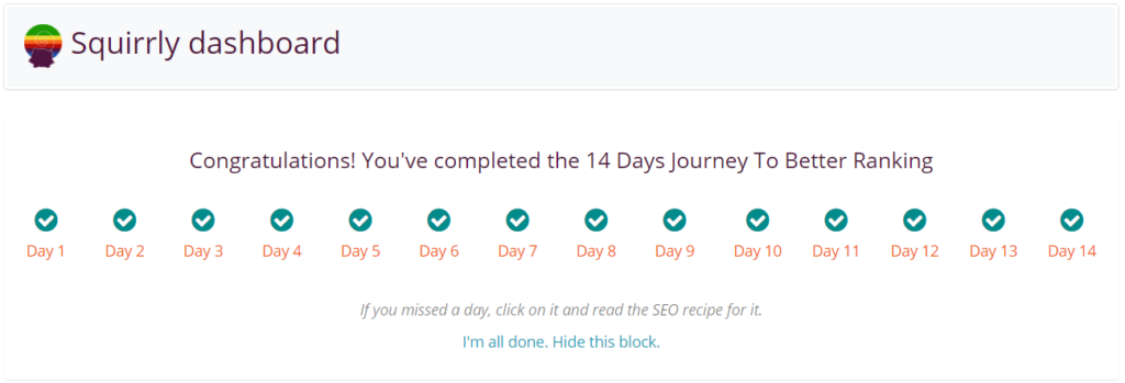 SEO Journey Completed