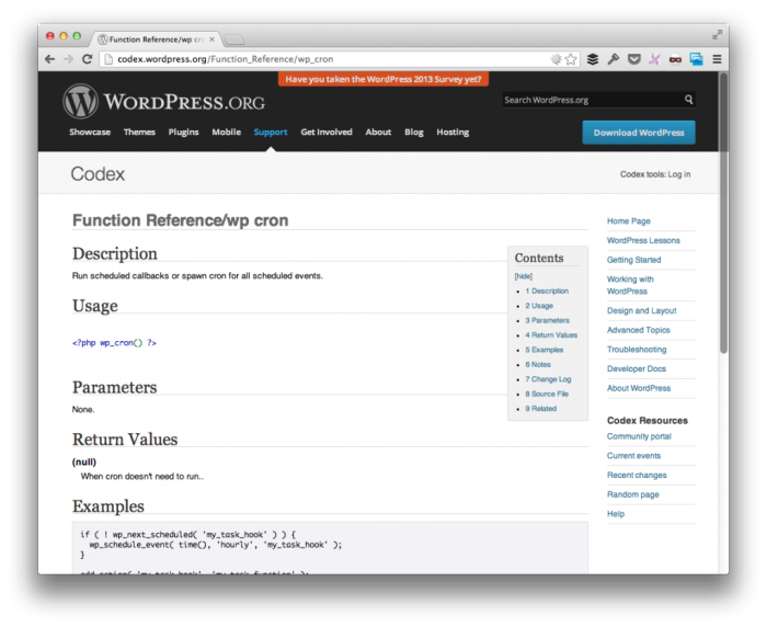 Wordpress cron