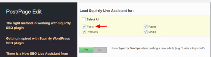 squirrly live assistant post types