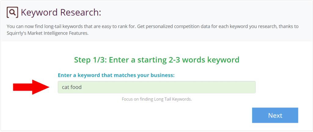 Keyword Research First Step