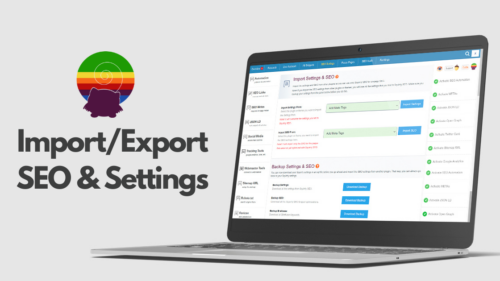 Import/Export SEO & Settings